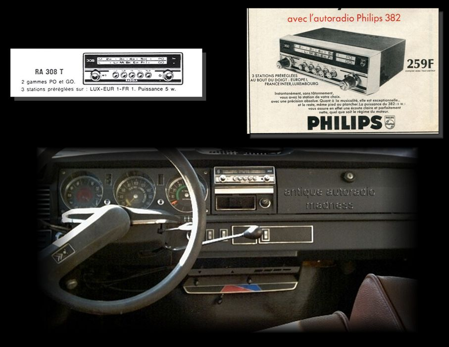 autoradio ancien citroen 1972