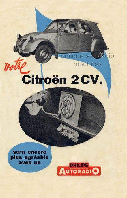 autoradios anciens citroen 1952