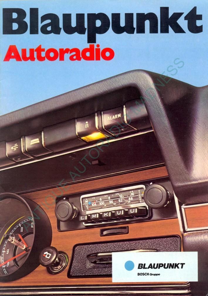 Catalogue Blaupunkt 1972