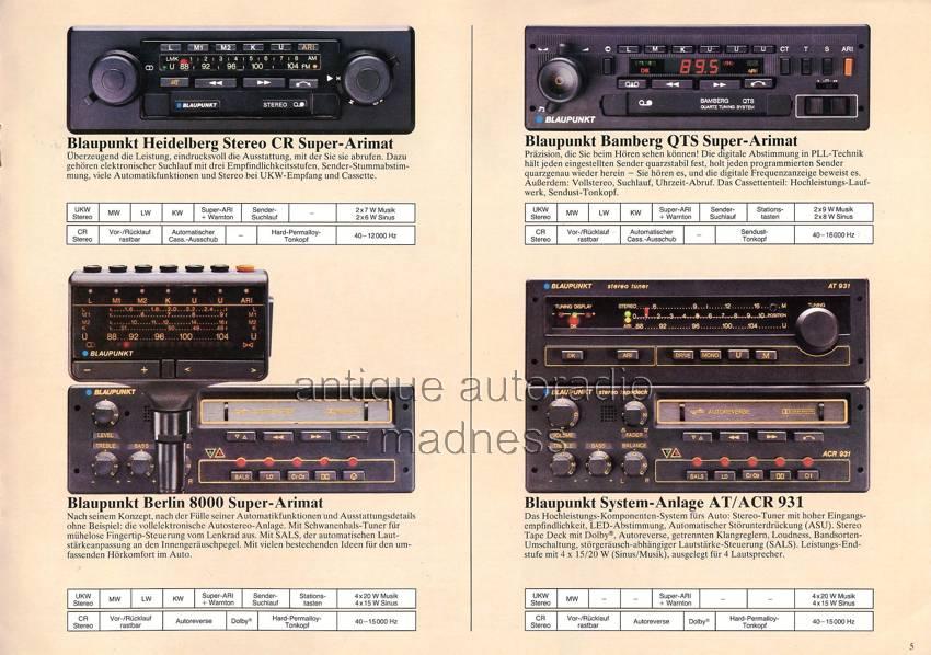 Catalogue Blaupunkt 1980