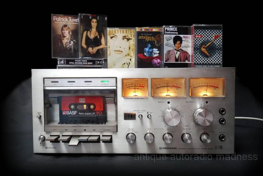 Vintage Compact Cassette Deck Pioneer Ct F700 1978