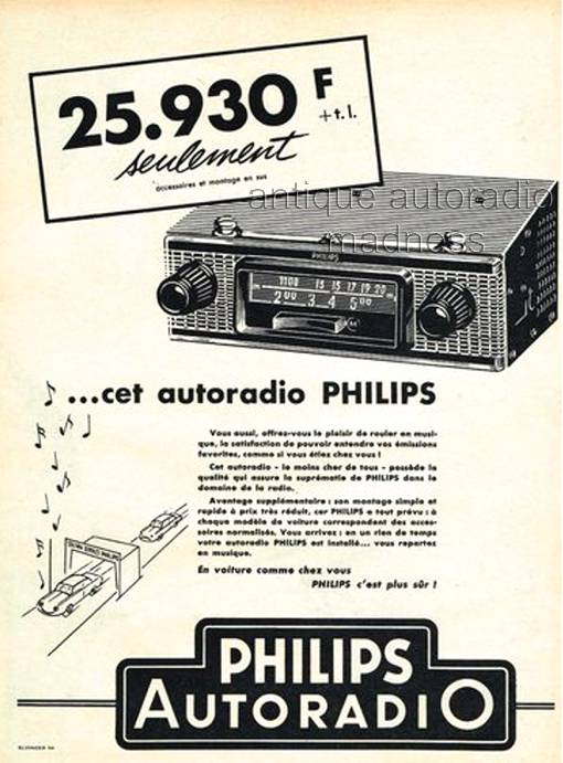 autoradio philips 1958. Black Bedroom Furniture Sets. Home Design Ideas