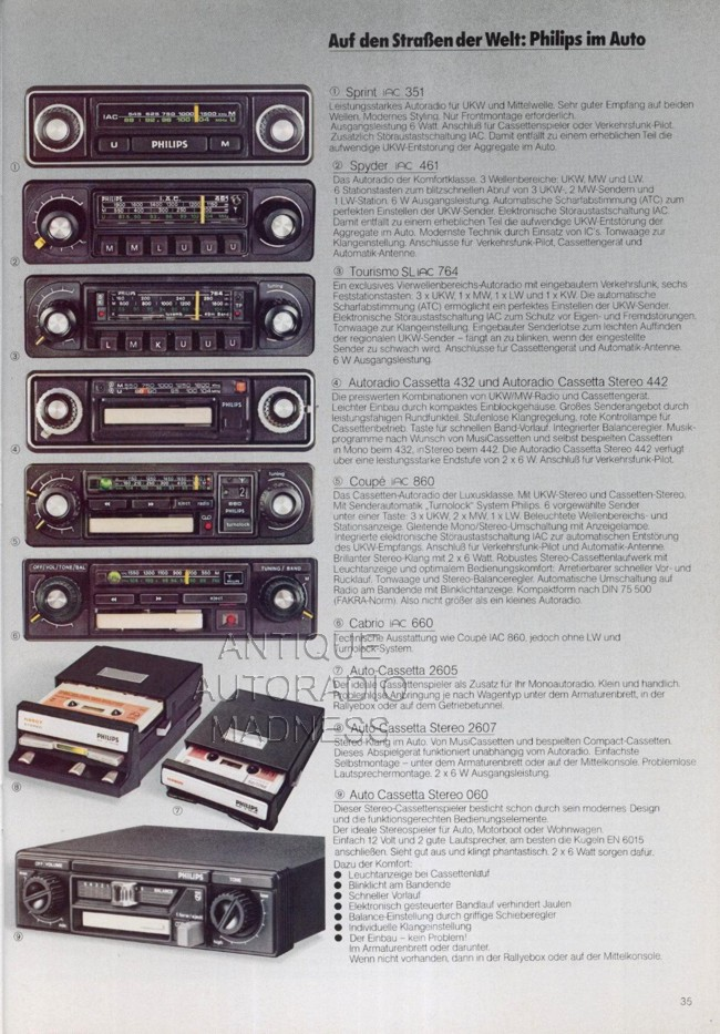 autoradio philips 1976. Black Bedroom Furniture Sets. Home Design Ideas