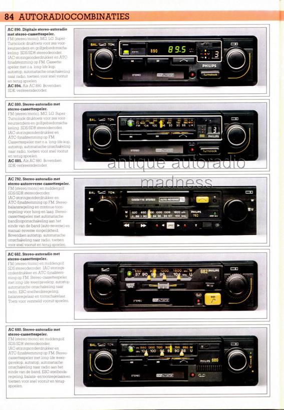 autoradio catalogue philips 1981 hollande. Black Bedroom Furniture Sets. Home Design Ideas