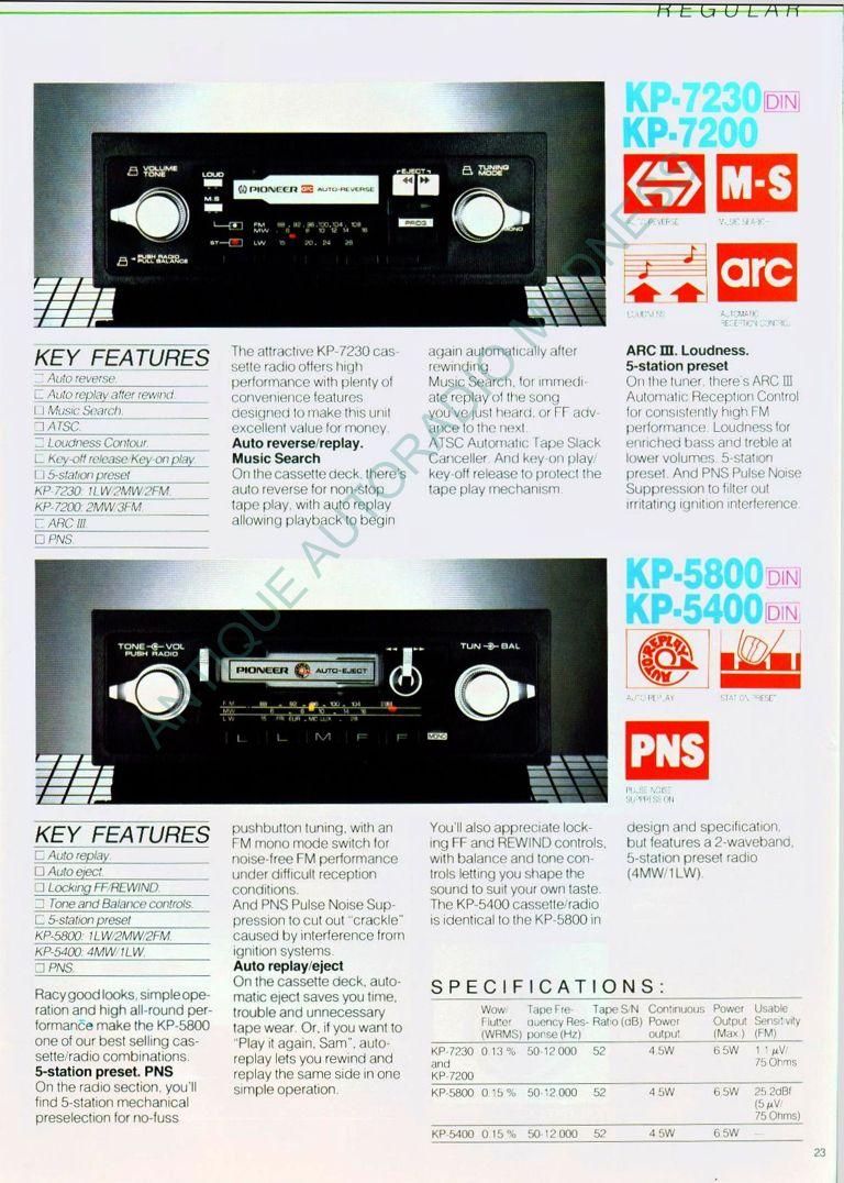 Catalogue Pioneer 1983