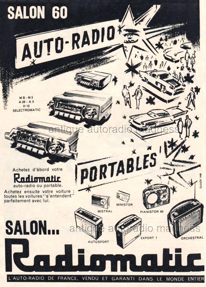 Autoradios radiomatic 1960 for Offre d emploi salon de l auto geneve
