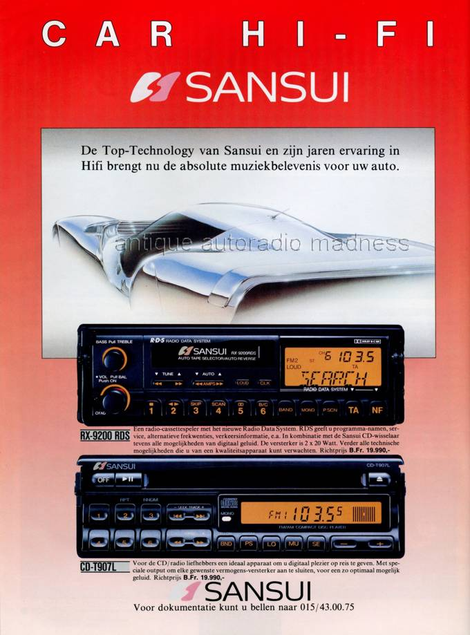 Sansui Car Stereo For Youngtimers