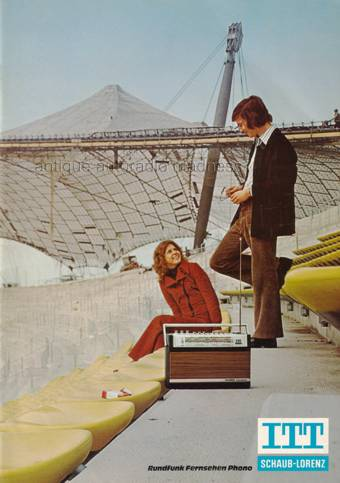 vintage itt car radio 1972. Black Bedroom Furniture Sets. Home Design Ideas