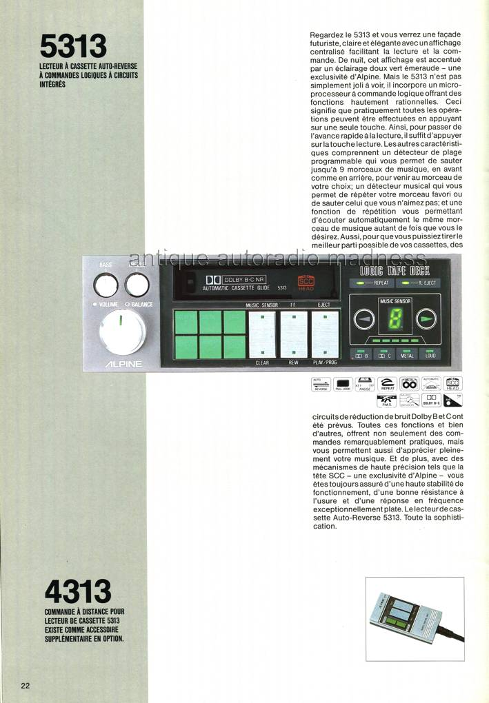 Catalogue autoradio ALPINE vintage 1985-3