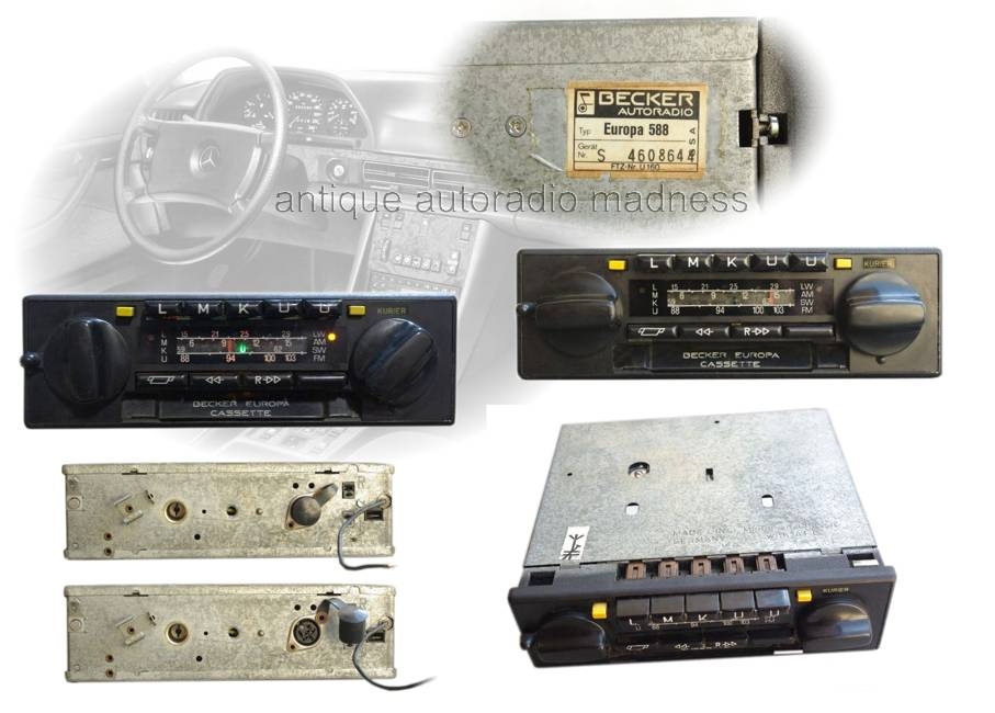 becker old car radio for vintage car 1981. Black Bedroom Furniture Sets. Home Design Ideas