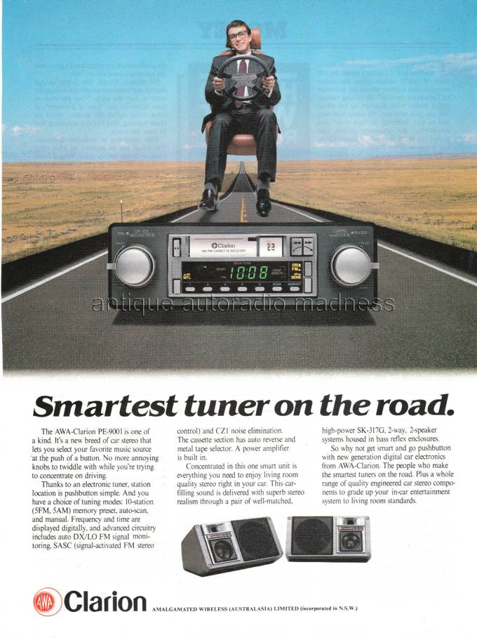 Classic Autoradio Clarion 1983