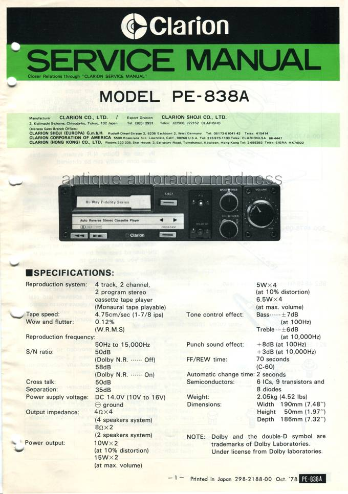 model car radio with Clarion Doc Techn 1978 1 on 1955dodgecoro d55 12dr021714 moreover 1969 FORD MUSTANG CUSTOM 2 DOOR COUPE 161758 furthermore Pd 18188 Opel Vauxhall Digital Media Changer YT M07 USB SD IPod AUX Interface Adapter With Bluetooth Extension also 389664 likewise Metalbox.