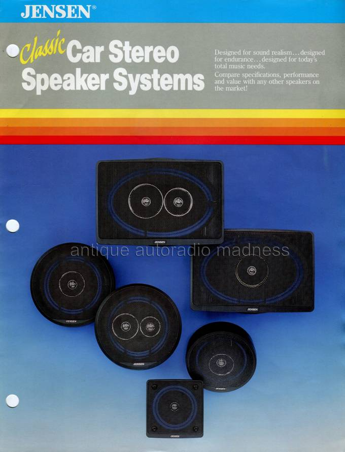 JENSEN car stereo - vintage speakers