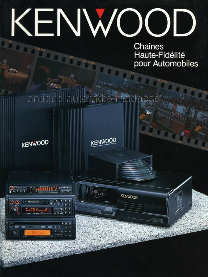 Catalogue Autoradio Kenwood Vintage 1991