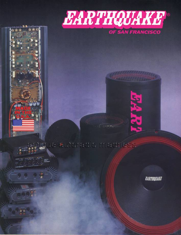 Earthquake Power stereo systems for youngtimers