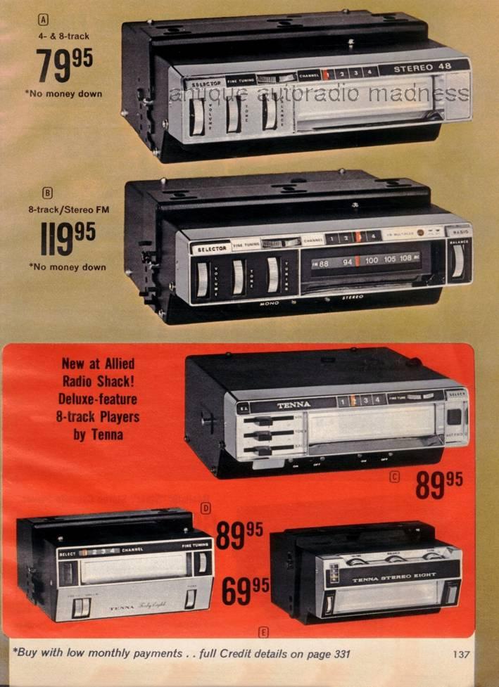 realistic 1971 vintage car radio