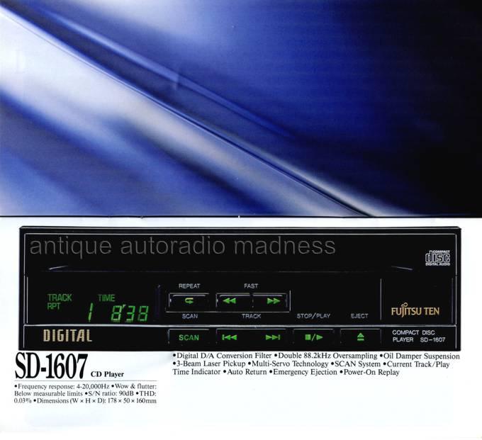 Autoradio Vintage Fujitsu Ten Folder 1990